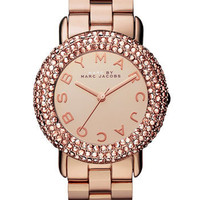 MARC BY MARC JACOBS &#x27;Marci&#x27; Mirror Dial Crystal Bezel Watch | Nordstrom