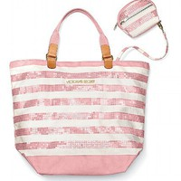 Striped Convertible Tote