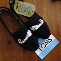 Mustache Toms by xbrookemx on Etsy