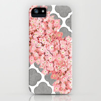 hydrangea and gray clover iPhone Case by her art
