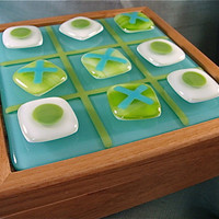 Fused Glass Tic Tac Toe Game by Design4Soul