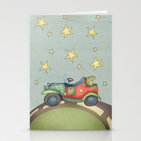 Car {Boy memories} Stationery Cards by Carina Povarchik