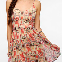 BB Dakota Fit & Flare Chiffon Heller Dress