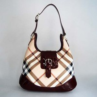 Burberry 29141 Red and Bordeaux Red Leather