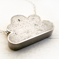White Cloud Necklace in Concrete by DrCraze on Etsy