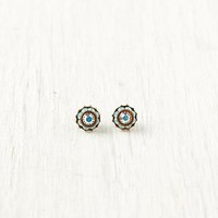 Free People Crystal Flower Studs