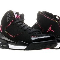 Amazon.com: GIRLS JORDAN SC-2 (GS) 459856 009 BLACK/DESERT PINK BASKETBALL SHOES (5.5): Shoes