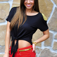 You Can&#x27;t Touch This Top: Black/Gold | Hope&#x27;s