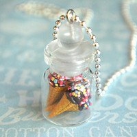 ice cream in a jar necklace
