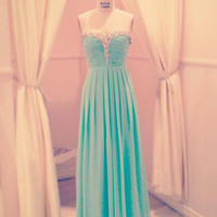 Fabulous A-line Sweetheart Floor Length Prom Dress with Beadings