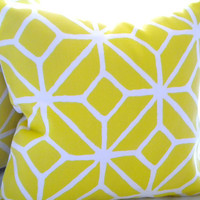 Modern Trina Turk Trellis pillow cover Print Citron 18 x 18