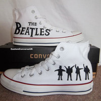 The Beatles Converse All Stars by CustomConverseUK on Etsy