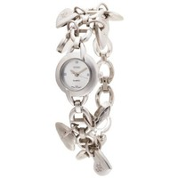 XOXO Women's XO7030 Silver Dial Silver-tone Heart Charms Watch: Watches: Amazon.com