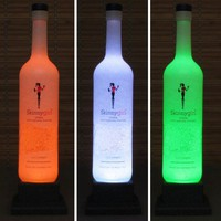 Skinny Girl Cucumber Vodka Color Changing Bottle Lamp Bar Light Remote
