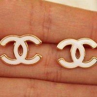 Fashion Double C Earrings