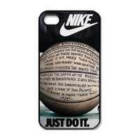 Custom International Brand Nike Logo case cover for iphone 4 4s best case 1y496