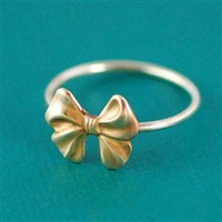 Bow Stacking Ring - Spiffing Jewelry