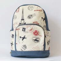 Retro Unique Eiffel Tower Backpack Bag