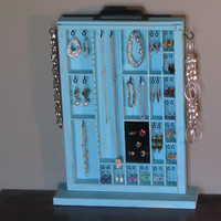 Jewelry Box Shabby chic blue Tabel Top by BlackForestCottage
