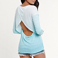 Kirra Long Sleeve Open Back Tee at PacSun.com