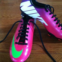 Nike Mercurial Victory FG Womens Soccer Cleats Size 6.5 ACC Ronaldo Fireberry