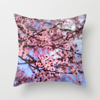 Pink Spring Throw Pillow by Guido Montañés