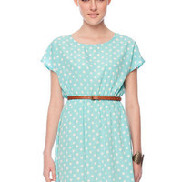 Daisy Dots Dress in Sky Blue :: tobi
