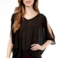 Slit and Slide Blouse $25