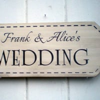 Custom Name Wedding Arrow Sign