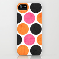 party polka dots iPhone Case by her art