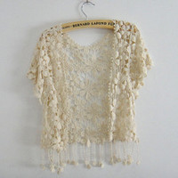 2013 new lace blouse with tassels 94