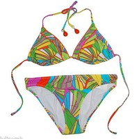 NWT Trina Turk Women&#x27;s Deco Palms Bikini Set Sz 12 