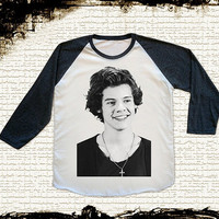 Size S -- HARRY STYLE Shirts 1D Shirts One Direction Shirts Rock Shirts Baseball Tee Jersey Raglan Long Sleeve Unisex Shirts Women Shirts