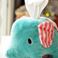 Cute Elephant Towel Tissue Box [5007]