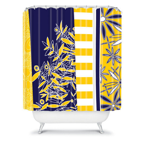 Madart Inc Blue And Yellow Florals From DENY Designs