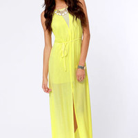 However You Slice It Yellow Maxi Dress