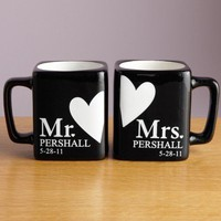 Mr. and Mrs. Black Mug Set
