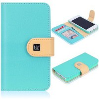 CaseCrown Pathway Wallet Case (Cloud Blue) for Apple iPhone 5: Cell Phones &amp; Accessories