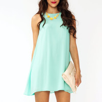 chiffon-a-line-dress BABYPINK LAVENDER SEAFOAM - GoJane.com