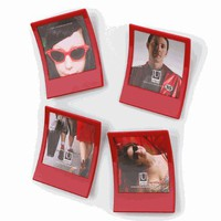 Snap Photo Frame Red / Set of 9