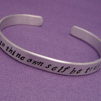 Shakespeare  To Thine Own Self Hand Stamped by chasingatstarlight