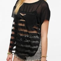 Urban Outfitters - Silence & Noise Shadow Stripe Tulip Side Tee