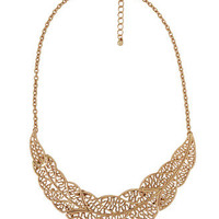 Cutout Leaf Collar Necklace