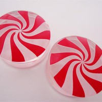 Candy Cane Plugs (2 gauge - 1 inch)