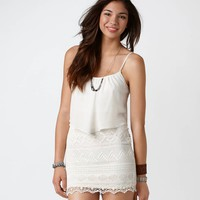 AE Ruffled Crochet Dress | American Eagle Outfitters