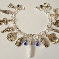 Supernatural Protection Charm Bracelet by delicategravity on Etsy
