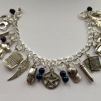 Supernatural Ultimate Charm Bracelet by delicategravity on Etsy