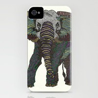 Technicolor Baby Elephant - Marker Art iPhone Case