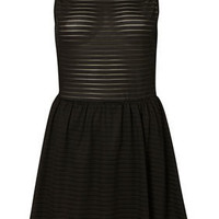 Cutout Back Self Stripe Flippy - Dresses  - Apparel  - Topshop USA