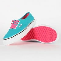 Amazon.com: Vans - Youth K Authentic Shoes In Pop Lace/Blue Bird: Shoes